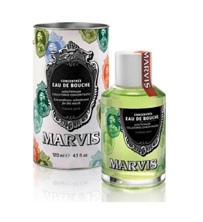 Koncentruotas itin stipraus mėtų skonio burnos skalavimo skystis MARVIS, 120 ml
